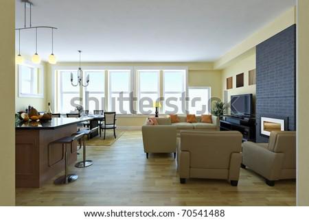 Modern living room. Interior design idea. #70541488