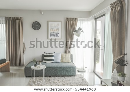 Modern living room interior design with sofa  #554441968