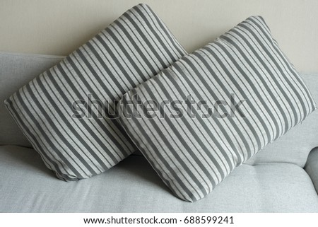 modern living-room - Sofa with pillows #688599241