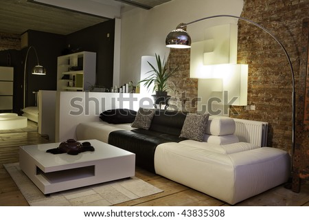 Living Room Modern Design on Modern Living Room With Design Furniture Stock Photo 43835308