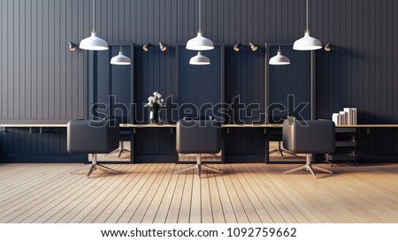 Modern & living salon interior / 3D render image
