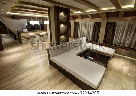 Modern livingroom - stock photo