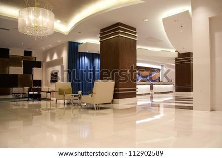 Modern lobby for five stars hotel