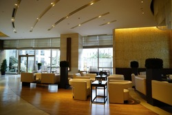 Modern lobby interior.