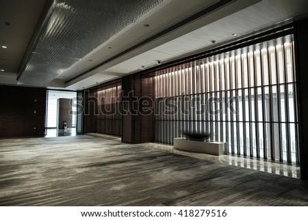 Modern lobby interior. #418279516