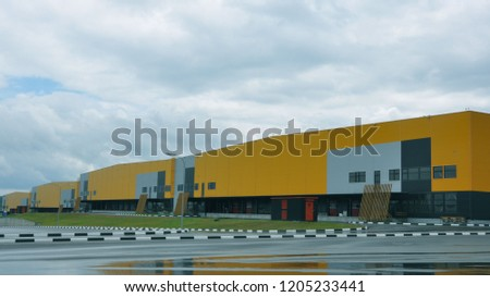 modern logistic center. storage and sorting solution #1205233441