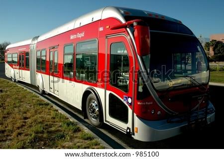 Modern Long Bus