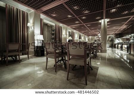 Modern lounge bar interior