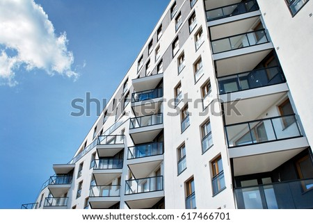 Modern, Luxury Apartment Building. #617466701