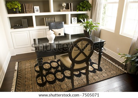 Modern luxury home office.