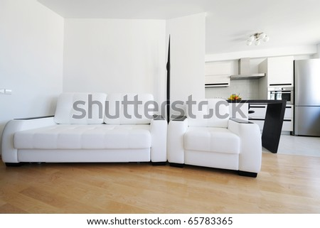 Modern luxury living room interior. I am the AUTHOR of this interior design. There is NO brand names or copyright objects.