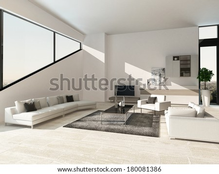 Modern luxury living room interior with nice furniture #180081386