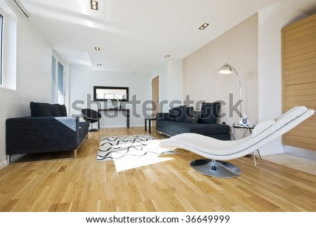 Modern Living Room Chairs on Modern Luxury Living Room With Designer Furniture Stock Photo 36649999