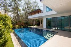 Modern luxury villa with swimming pool
