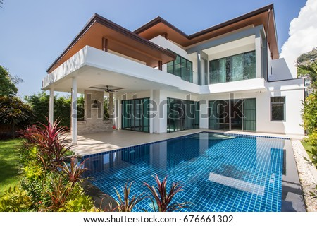 Modern luxury villa with swimming pool