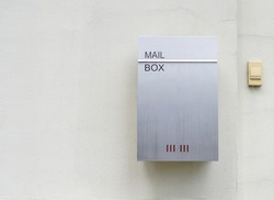 Modern mail box on the wall