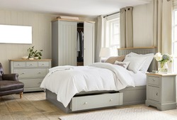 Modern master bedroom interior