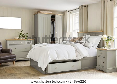 Modern master bedroom interior #724866226