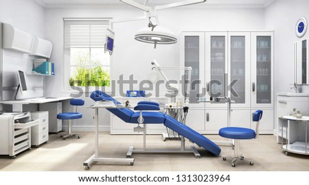 Modern medical clinic. 3D rendering