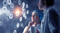 Modern medical technologies concept . Mixed media