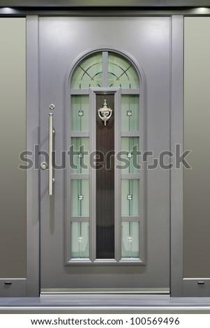 Modern Metallic Massive Gray Door