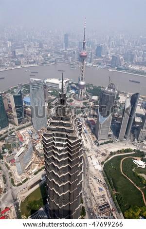 Modern metropolis of Shanghai