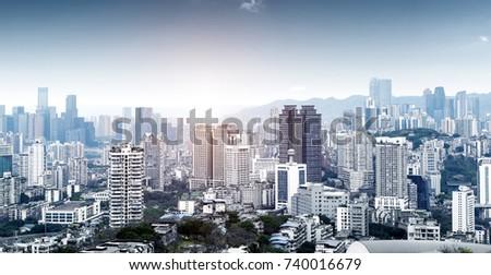 Modern metropolis skyline, Chongqing, China, #740016679