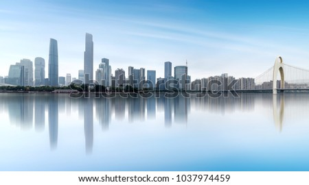 Modern metropolis skyline, guangzhou, China