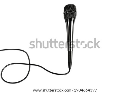 Modern microphone isolated on a white background.  Speaker concept. ストックフォト ©