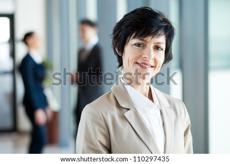 modern middle aged businesswoman portrait