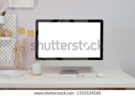 Modern minimal creative workspace. #1310524568