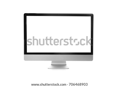 Modern monitor on white background #706468903