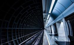 Modern Moscow underground metro station