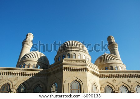 Modern mosque and minaret in Baku, Azerbaijan - more similar photos in my portfolio