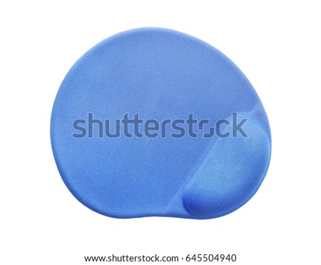 Modern mouse pad on white background #645504940