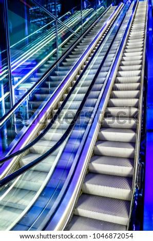 Modern Moving Stairs   Escalator   Photo