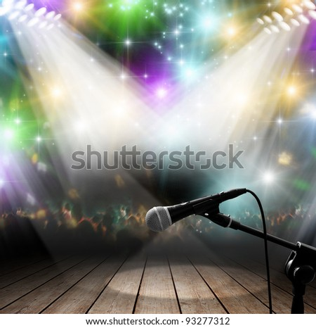 Modern music concert with light effects