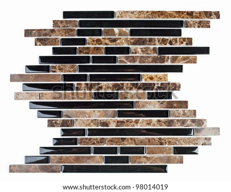 Modern natural marble and granite mosaic tile.