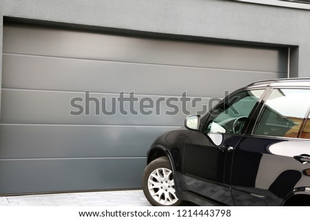 Modern new garage door (sectional door) #1214443798