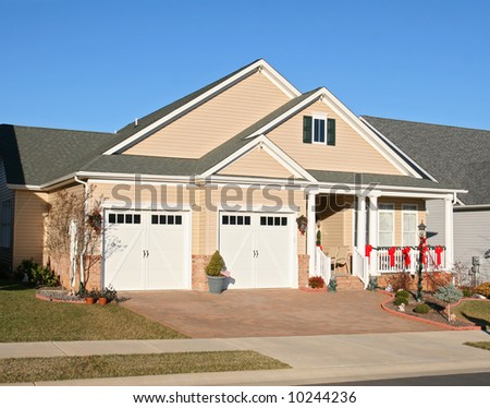 Modern new housing - stock photo