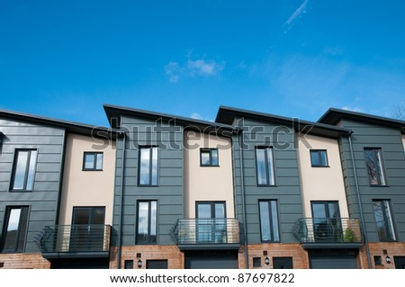 Modern new housing , England - stock photo