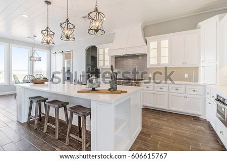 Modern New Kitchen Remodeled White  #606615767