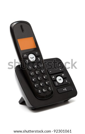 Modern new phone on a white background