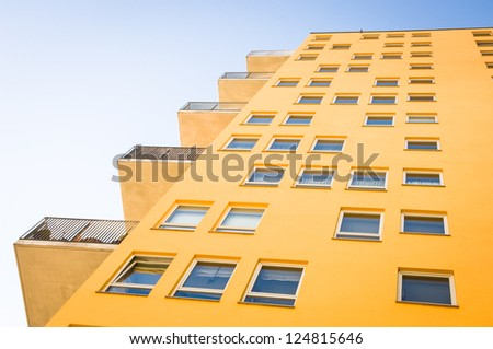 modern new plattenbau - nice background