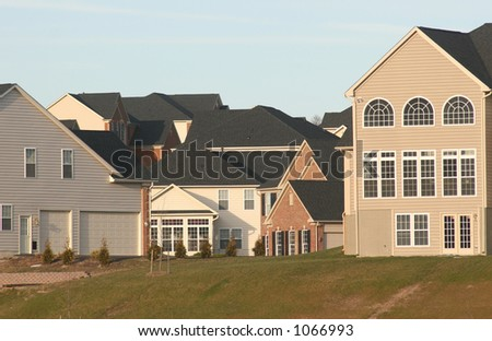 Modern new suburban housing.