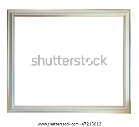 Modern new white picture frame, isolated with clipping path