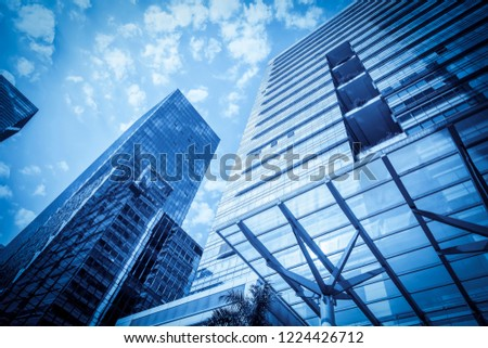 Modern office building close-up shot in shenzhen, China #1224426712