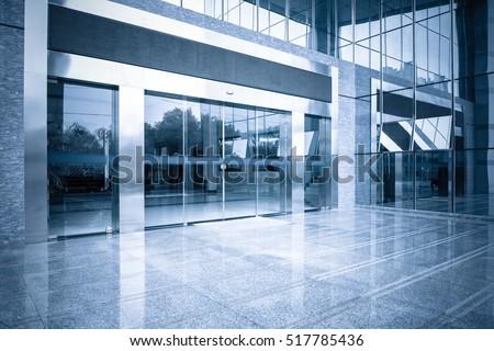 modern office building gate...