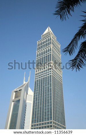 Modern Office Building in Blue Sky