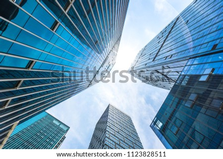 modern office building in urban #1123828511